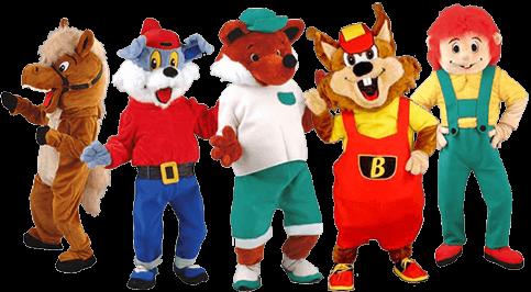 Mascotte e costumi da catalogo